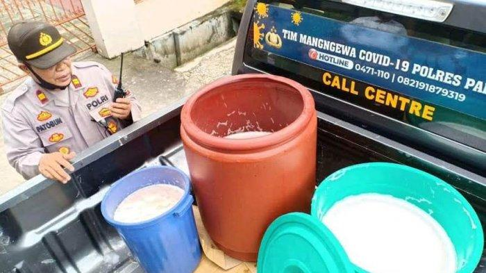 Polsek Waru Palopo Sita 150 Liter Ballo, Pemilik Hanya Dibuatkan Surat Pernyataan