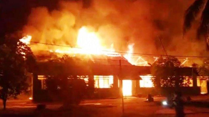 Ponpes Al Ikhlas Lampoko Polman Terbakar saat Santri Lakukan ini