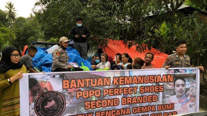 Penjual Sepatu Asal Medan Turut Salurkan Bantuan ke Korban Gempa Sulbar