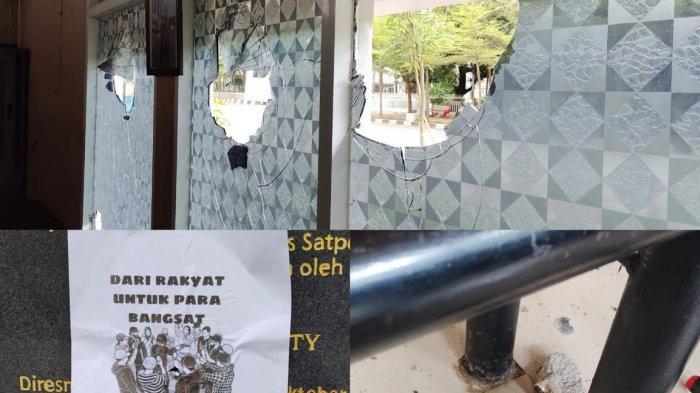 Pos Satpol PP di Kawasan Pantai Losari Makassar Dirusak OTK, Pelaku Tinggalkan Pesan