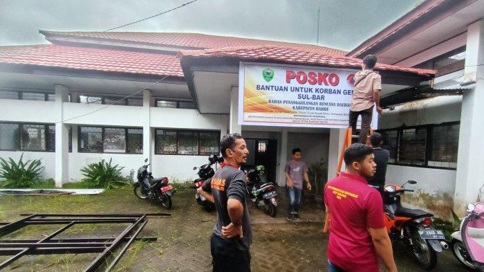 Bupati Barru Buka Posko Bantuan Gempa Bumi Sulawesi Barat