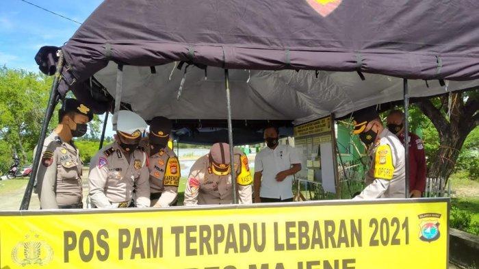 Tim Supervisi Operasi Ketupat Polda Sulbar Cek Kesiapan Posko di Majene