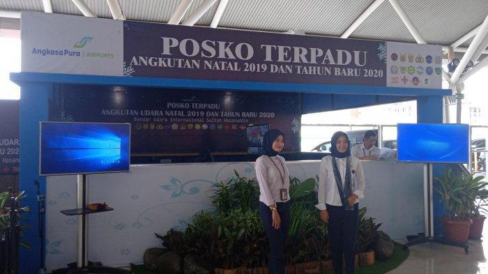 Jelang Natal dan Tahun Baru, Posko Terpadu Mulai Beroperasi di Bandara Sultan Hasanuddin