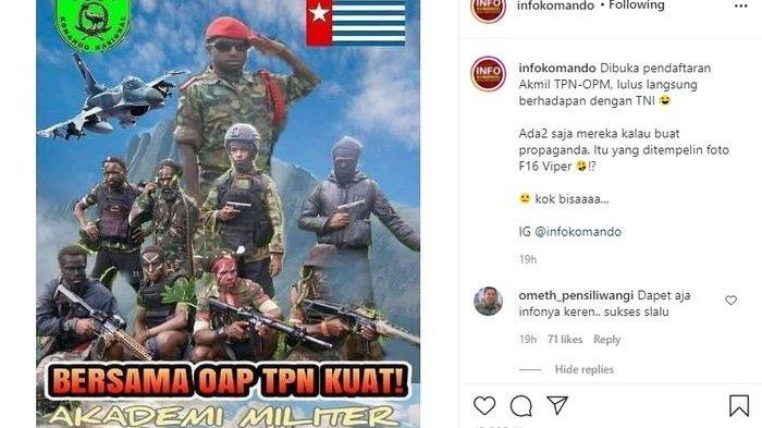 Viral KKB Papua Rekrut Tentara Baru, Pasang Poster Ada Jet Tempur F-16, Jadi Bahan Tertawaan Netizen