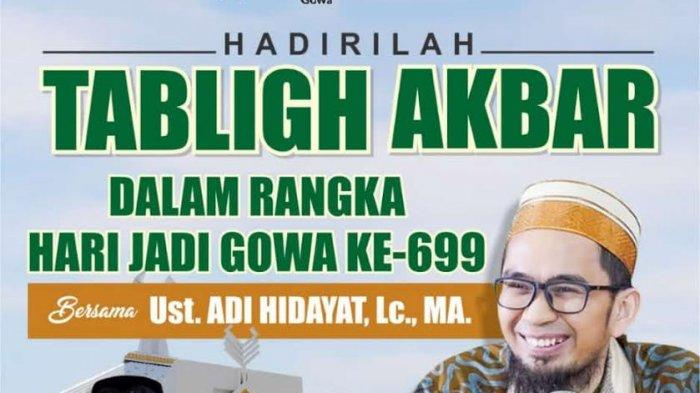 HUT ke-699, Pemkab Gowa Undang Ustad Adi Hidayat dan Gelar Kegiatan Hapus Tato