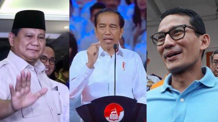 Bandingkan Isi Lengkap Pidato Jokowi dengan Unggahan Prabowo Subianto dan Sandiaga Uno Soal Oposisi