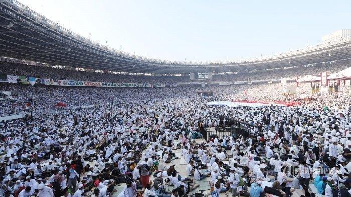 Prabowo Klaim Massa Kampanyenya Capai 1 Juta, Ternyata Segini Kapasitas Stadion GBK Sebenarnya