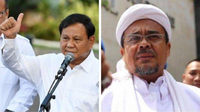 Kenapa Rizieq Shihab Tak Pulang-pulang Padahal Prabowo Subianto Sudah 1 Bulan Jadi Menteri Jokowi