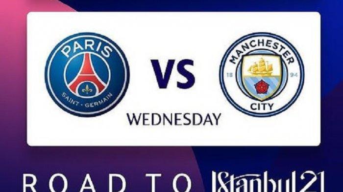 Prediksi Susunan Pemain PSG vs Manchester City di Liga Champions dan Link Live Streaming SCTV