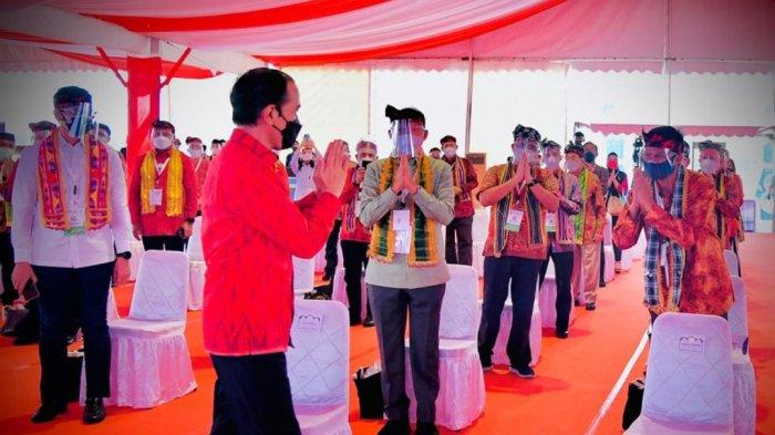 Presiden Jokowi Serukan PPKM  Mikro Darurat di Arena Munas Kadin, Jokowi:Ini Kunci Tekan Angka Covid