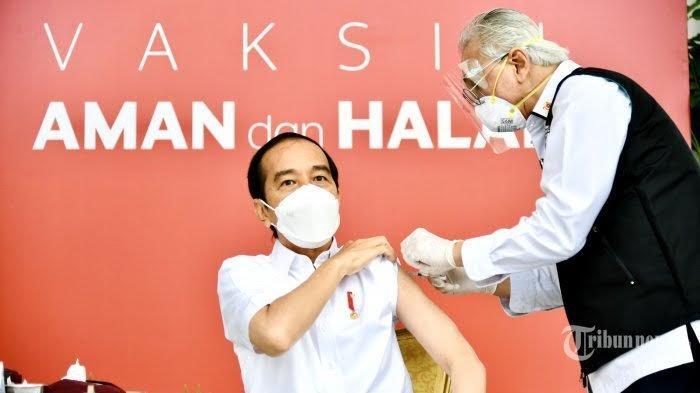 Presiden Joko Widodo jadi orang pertama yang disuntikkan vaksin Covid-19