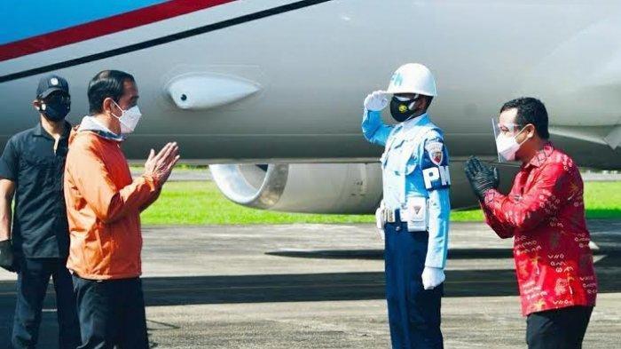 Presiden Joko Widodo melakukan kunjungan kerjanya di Provinsi Sulawesi Selatan, Kamis (18/3/2021).