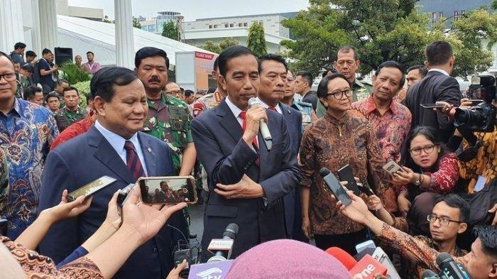 Setelah Jadi Menteri, Prabowo Subianto Curhat kepada Luhut Enaknya Kerja Sama Jokowi