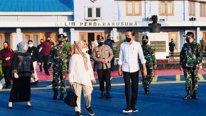 Presiden Jokowi dan Ibu Negara Iriana Jokowi bertolak dari Bandara Halim Perdanakusuma menuju Kabupaten Wajo, Sulsel, Kamis (9/9/2021).