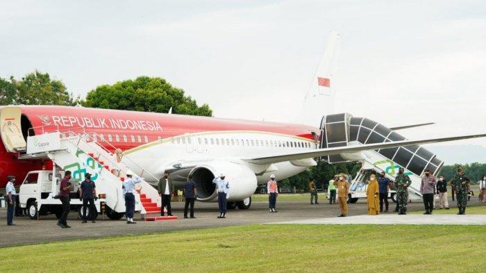 BREAKING NEWS: Presiden Jokowi Tiba di Lanud Hasanuddin, Langsung Naik Helikopter ke Wajo