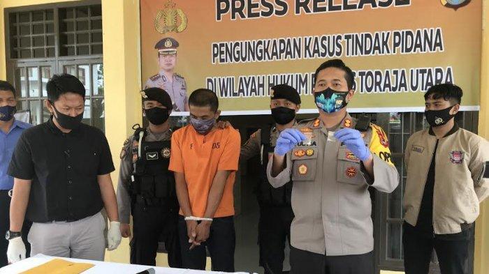 Polres Toraja Utara Amankan Tersangka Narkoba Jenis Sabu di Rantepao