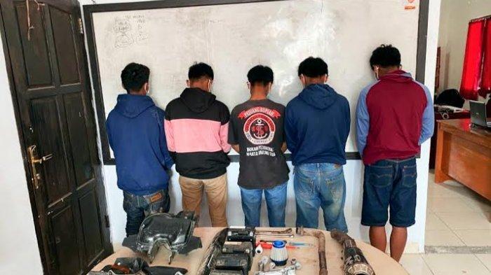1x24 Jam, Pencuri Sparepart Motor di Pango-Pango Tana Toraja Ditangkap Polisi