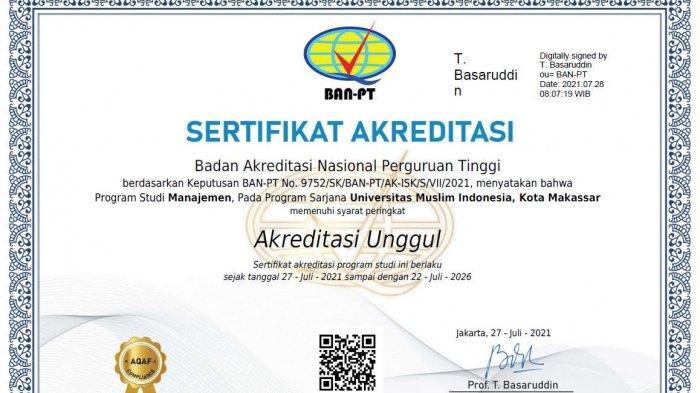 Selamat! Prodi Manajemen FEB UMI Raih Akreditasi Unggul, Pertama di Luar Pulau Jawa