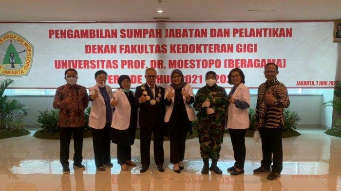 Dosen FKG Unhas Resmi menjadi Dekan Universitas Prof Dr Moestopo Jakarta