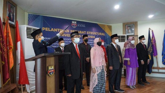 Daftar Nama 11 Pejabat Struktural yang Dilantik Rektor Unibos Prof Saleh Pallu