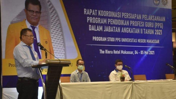 Buka Rakor PPG, Rektor UNM: Kita Bagian Penentu Kualitas SDM Indonesia