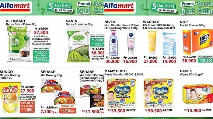 KATALOG Promo Alfamart Senin 19 Juli 2021: Spesial Iduladha 1442 H, Minyak Goreng Bumbu Masak Diskon