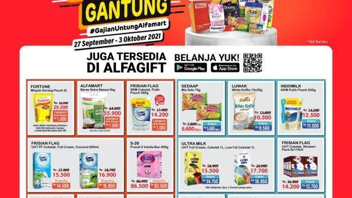 KATALOG Promo JSM Alfamart Jumat 1 Oktober 2021:Gratis 1, Minyak Goreng dan Beras Harga Super Murah