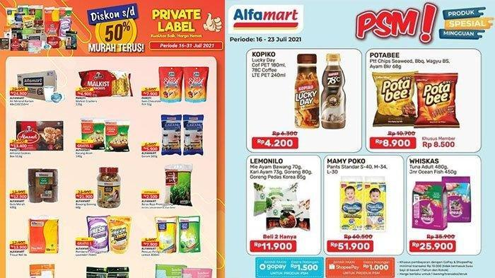 KATALOG Promo Alfamart Rabu 21 Juli 2021: Produk Private Label Diskon 50%, Shampo Gratis Gula Pasir