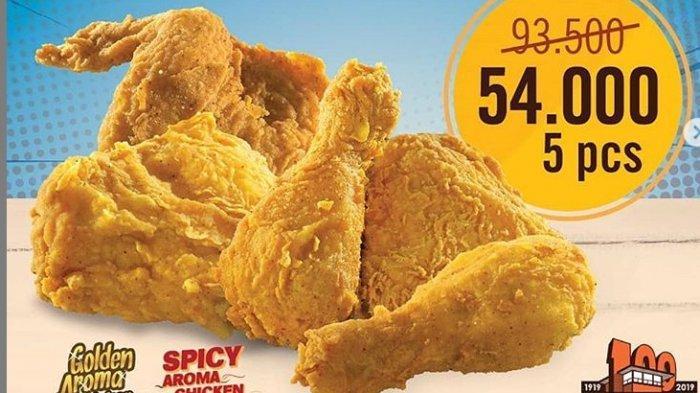 Ada Promo Ayam A&W, 5 Potong Ayam Hanya Rp 54 Ribu, Pembelian Tak Dibatasi, Ini Caranya