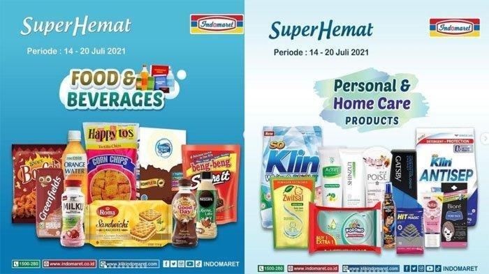 KATALOG Promo Indomaret Jumat 16 Juli 2021: Deterjen dan Minyak Goreng Murah, Tambah Rp 2000 Dapat 2