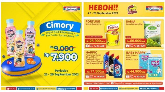 Promo Indomaret Terbaru 23 September 2021, Minyak Goreng 2L Rp28.900, Beras, Popok, Cimory Murah