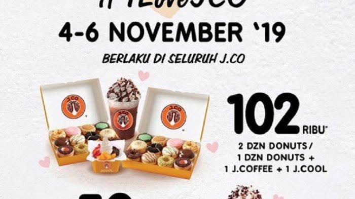 Promo J.CO Beli 2 Lusin Donut Cuma Bayar Rp 102 Ribu, Mulai Hari Ini hingga 6 November 2019