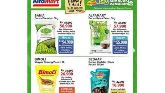 UPDATE Katalog <a href='https://manado.tribunnews.com/tag/alfamart' title='Alfamart'>Alfamart</a> Terbaru 18 April 2021, <a href='https://manado.tribunnews.com/tag/promo-jsm' title='PromoJSM'>PromoJSM</a> Ramadhan Kecap hingga Minyak Murah