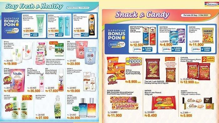 KATALOG Promo Indomaret Jumat 1 Oktober 2021: Beli Sabun Gratis Gula Pasir, Snack dan Popok Diskon