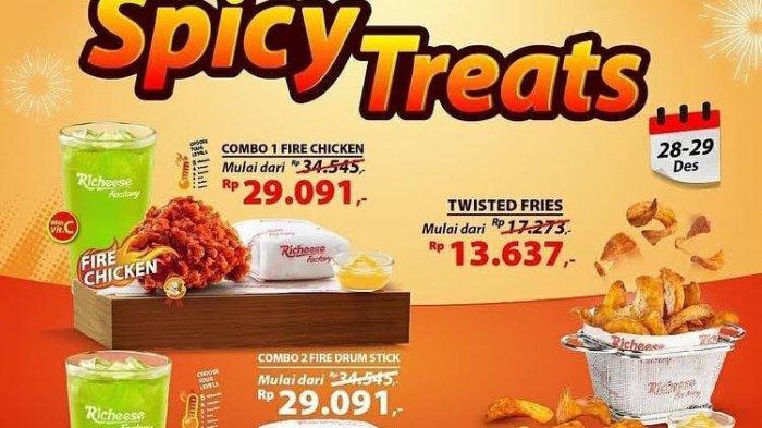 Buruan, Promo Spicy Treats di Richeese Factory Mulai Rp 13 Ribu Saja