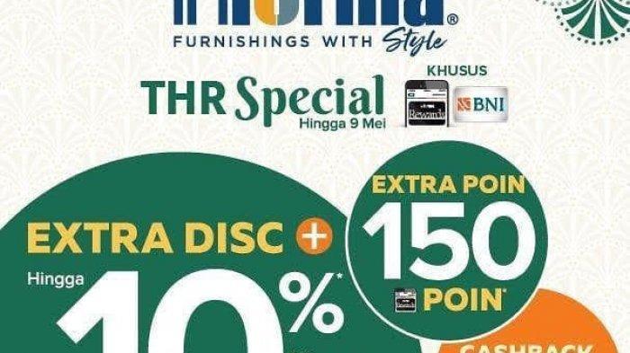 Promo THR Spesial Informa, Beri Cashback hingga Extra Poin