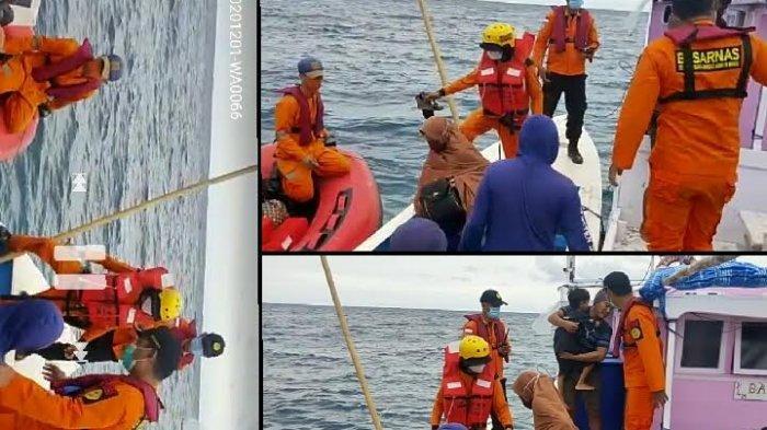 KLM Bahari Al Barru Bocor di Perairan Pangkep, Ibu dan dua Anaknya Dievakuasi