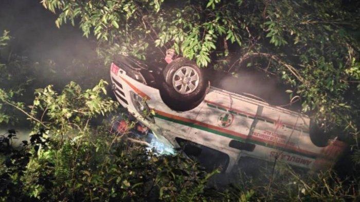Kronologis Mobil Ambulance RSUD Siwa Kecelakaan di Bulu Dua Soppeng, Tidak Ada Korban Jiwa