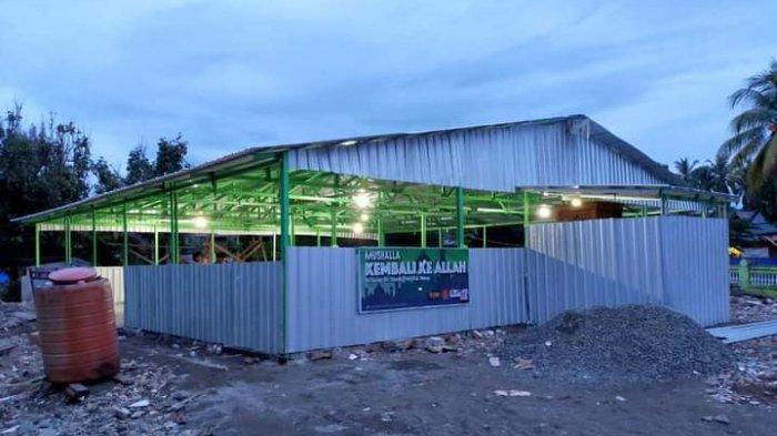 Tim Mahtancare Bangun Musholla Ketiga di Lokasi Gempa Sulbar