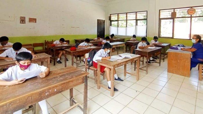 Ujian Sekolah Digelar Tatap Muka, SDN 213 Inpres Lemo Tana Toraja Perketat Protokol Kesehatan