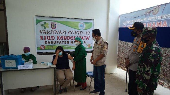 Vaksinasi Serentak Tahap Pertama di Mamasa, Wabup Pantau 6 Posko