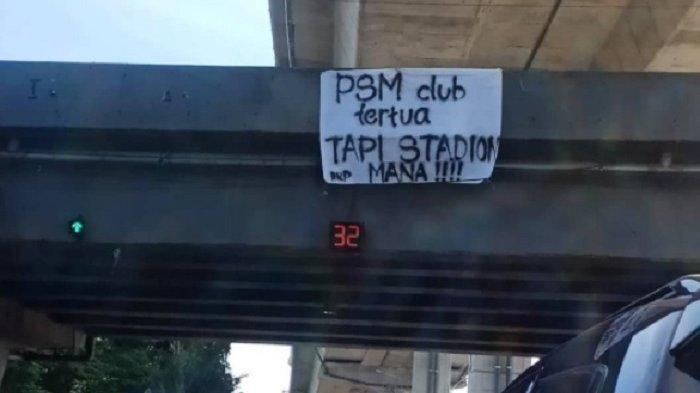 Kala Markas PSM Makassar Dirubuhkan Kini Disindir Via Spanduk Viral di Sosial Media