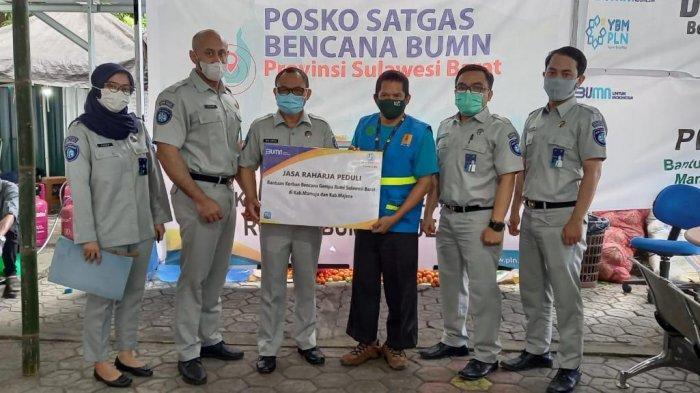 Jasa Raharja Sulsel Bantu Korban Gempa Sulbar, Salurkan Sembako hingga APD di Daerah Terisolir