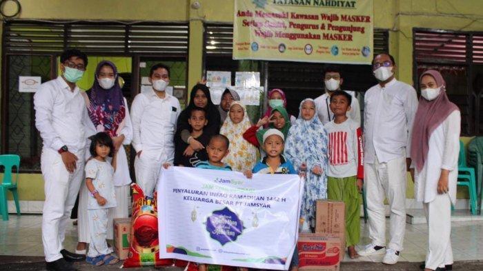 Jamsyar Berbagi, Salurkan Infaq Ramadan ke Panti Asuhan