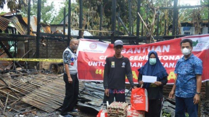 Tanggap Bencana, PT Semen Tonasa Bantu Korban Kebakaran di Kampung Lejang