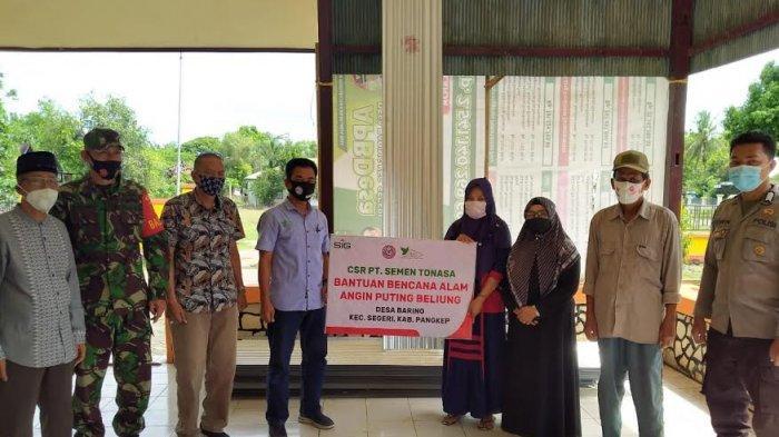 Semen Tonasa Bantu Korban Puting Beliung di Desa Baring Pangkep