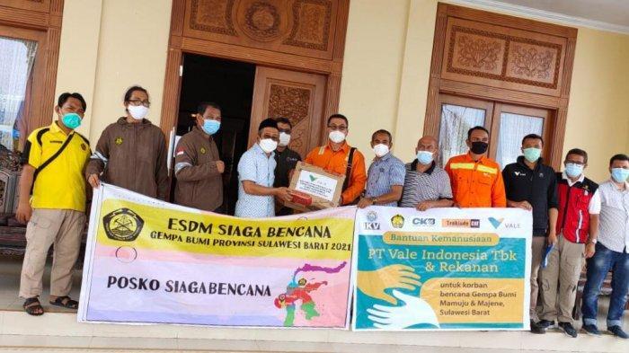 PT Vale Kembali Salurkan Logistik untuk Korban Gempa Mamuju-Majene Sulbar