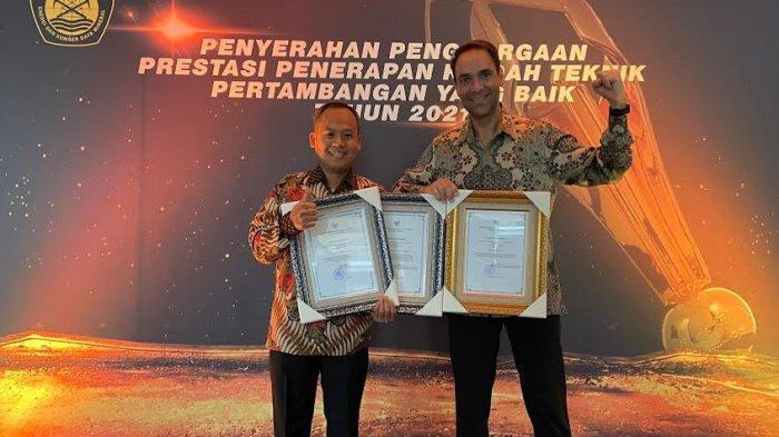 PT Vale Raih Penghargaan Good Mining Practice Award