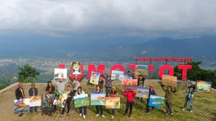 Beri Dukungan Moril, Seniman Lukis Wajah Nurdin Abdullah di Negeri di Atas Awan