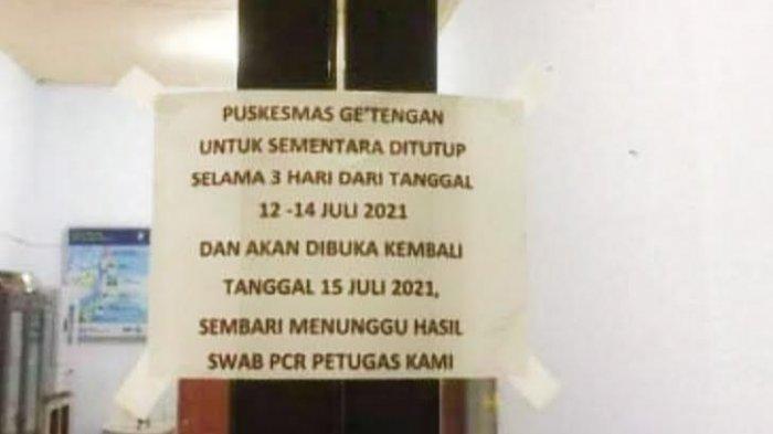 Satu Petugas Positif Covid-19, Puskesmas Ge'tengan Tana Toraja Tutup Tiga Hari